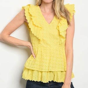 Tops - 5 for $100 Just In! Ruffle V Neck Blouse